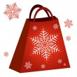 Shopping red bag — Stock Vector