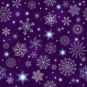 Seamless violet christmas pattern — Stock Vector