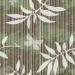Seamless grungy pattern with leaves — Stock Vector