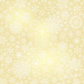 Seamless gold christmas pattern — Stock Vector
