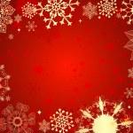 czerwona kartka świąteczna — Wektor stockowy