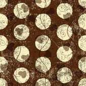 Seamless grungy brown pattern — Stockvektor