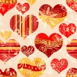 Stock Vector: Seamless valentine pattern