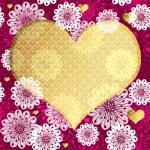 Valentine floral frame — Stock Vector #38189257
