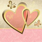 Nazik Sevgililer günü çerçevesi — Stok Vektör
