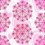 Seamless valentine pink grunge pattern — Stock Vector