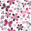 Grunge valentine seamless pattern — Stock Vector