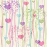 Seamless valentine pastel grunge pattern — Stock Vector