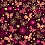 Valentine seamless dark pattern — Stock Vector