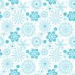 Seamless christmas grunge pattern — Stock Vector