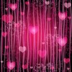 Grungy pink valentine pattern — Stock Vector
