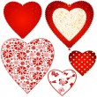 Collection valentine hearts — Stock Vector