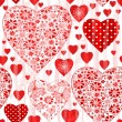 Stock Vector: Grungy seamless valentine pattern