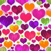 Vivid motley seamless valentine pattern — Stock Vector