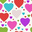 Colorful seamless valentine pattern — Stock Vector