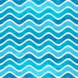 Seamless blue wave striped pattern — Stock Vector