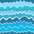 Stock Vector: Seamless wave striped pattern
