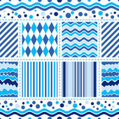 Seamless white-blue wave pattern — Stock Vector