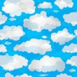 Spring seamless pattern wuth clouds — Stock Vector