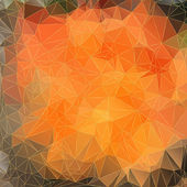 Abstract orange background with triangles — Vector de stock