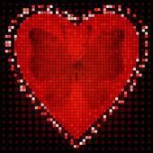 Valentine red frame — Stock Vector