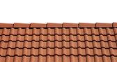 Beyaz zemin üzerinde izole çatı kiremitleri — Stok fotoğraf