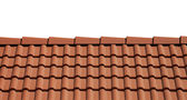 Roof tiles isolated on white background — Stockfoto