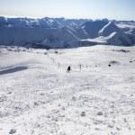 Skier on ski slope — Stock Photo