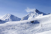 View on ski slope — Stockfoto
