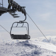 Ropeway on ski resort — Stock Photo