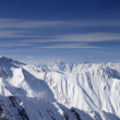 Panorama of high winter mountains — Stock Photo