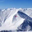 Sky gliding in high mountains — Stock Photo