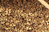 Firewood background with copyspace — Stock Photo