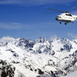 Heliski in high mountains — Stock Photo