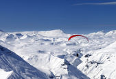 Sky gliding in snowy mountains — Stock Photo