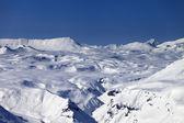 Snowy mountain plateau — Stock Photo