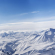 Panorama of winter mountains in nice day — Stock Photo