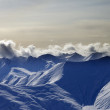 Snow mountains in evening — Stock Photo #16360289