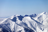 Snowy mountains. Caucasus Mountains, Georgia, ski resort Gudauri — Stock Photo