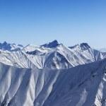 Panorama of winter mountains — Stock Photo