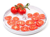 Fresh tomato prepared to dehydrated — Stock Photo