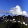 Large panorama of summer mountains — Stock Photo