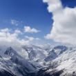 Panorama Mountains. Ski resort. - Stock Photo