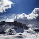 Panoramic view of snow mountains — Stock Photo #26008225