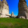 Stock Photo: Fairy chimneys rock formations. Turkey, Cappadocia, Goreme.