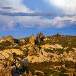 Beautiful view of evening Cappadocia valley — Stock Photo #28565699