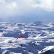 Stock Photo: Speed flying in winter mountains