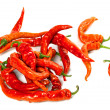 Wet red chili peppers — Foto Stock