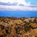 View of sunset Cappadocia valley — Stock Photo #29374353