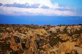 View of sunset Cappadocia valley — Stock Photo